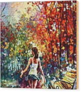 Barefooted Stroll Wood Print