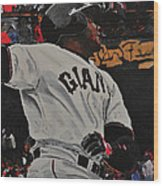Barry Bonds World Record Breaking Home Run Wood Print