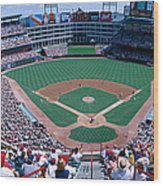 Baseball Stadium, Texas Rangers V Wood Print