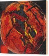 Basketball Abstract Wood Print