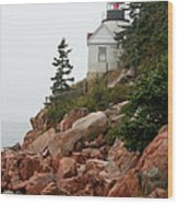 Bass Harbor Head Light Wood Print