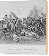 Battle Of Camden, 1780 Wood Print