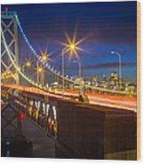 Bay Bridge Wood Print by Inge Johnsson