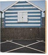 Beach Hut 41 Wood Print