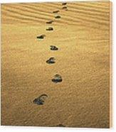 Beach Walker Wood Print