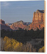 Bell Rock And Courthouse Butte Wood Print