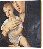 Bellini's Madonna And Child Wood Print