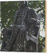 Benjamin Franklin Statue University Of Pennsylvania Wood Print