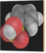 Benzenesulfonic Acid Molecule Wood Print