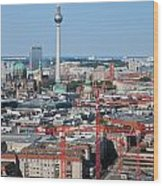 Berlin Cathedral And Tv Tower Wood Print
