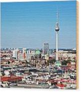 Berlin Panorama Wood Print
