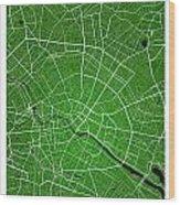 Berlin Street Map - Berlin Germany Road Map Art On Colored Backg Wood Print