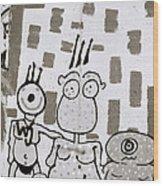 Berlin Wall Avatars Wood Print