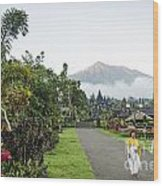 Besakih Temple And Mount Agung View In Bali Indonesia Wood Print