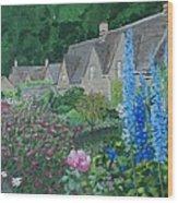 Bibury Gardens Wood Print