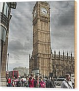 Big Ben London Wood Print by Donald Davis