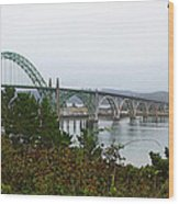 Big River Bridge Oregon Coast Wood Print