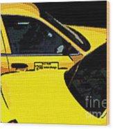 Big Yellow Taxis Wood Print