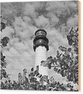 Bill Baggs Lighthouse Wood Print