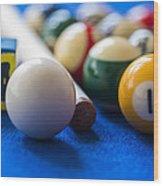 Billiard Balls Wood Print