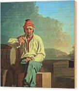 Bingham's Mississippi Boatman Wood Print