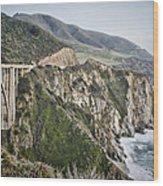 Bixby Bridge Vista Wood Print