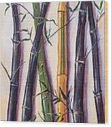 Black Bamboo Wood Print