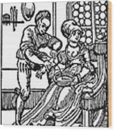 Bloodletting, 16th Century Wood Print