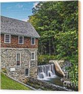 Blow Me Down Mill Cornish New Hampshire Wood Print