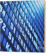 Blue Flight Board Wood Print