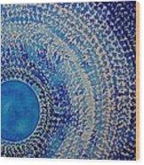 Blue Kachina Original Painting Wood Print by Sol Luckman