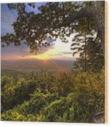 Blue Ridge Mountain Sunset Wood Print