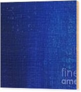 Blue Strokes Wood Print