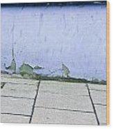 Blue Wall Wood Print