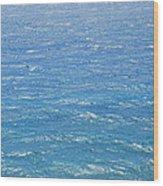 Blue Waters Wood Print