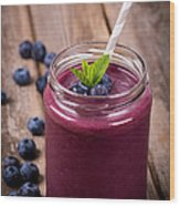Blueberry Smoothie Wood Print