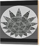 Bnw Black N White Star Ufo Art  Sprinkled Crystal Stone Graphic Decorations Navinjoshi  Rights Manag Wood Print