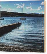 Boats In Wales Wood Print