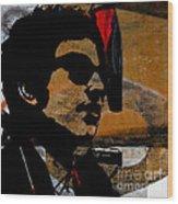 Bob Dylan Recording Session Wood Print