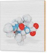 Boceprevir Hepatitis Drug Molecule Wood Print