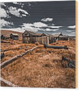 Bodie Ghost Town Wood Print
