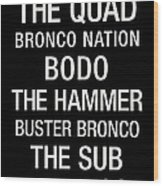 Boise State College Town Wall Art Wood Print