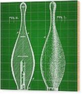 Bowling Pin Patent 1895 - Green Wood Print