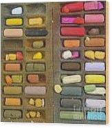 Box Of Pastels Wood Print by Bernard Jaubert