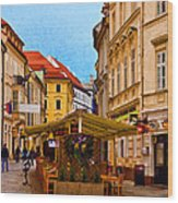 Bratislava Old Town Wood Print