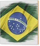 Brazilian Flag  Wood Print