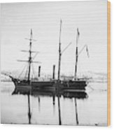 Brazilian Steamship, 1863 Wood Print