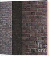 Brick Columns Wood Print