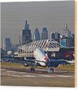 British Airways London Wood Print