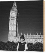 british metropolitan police office guarding the houses of parliament London England UK Wood Print